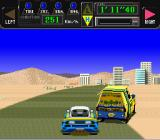 Jaleco Rally: Big Run - The Supreme 4WD Challenge SNES Overtaking