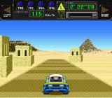 Jaleco Rally: Big Run - The Supreme 4WD Challenge SNES Driving out in the desert now