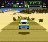 Jaleco Rally: Big Run - The Supreme 4WD Challenge SNES Jumping through the air