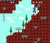 Batsu & Terī NES World 4 - Rocky Mountain stage, there's no enemies here just pure vertically-scrolling platforming