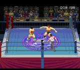 Jikkyou Power Pro Wrestling '96: Max Voltage SNES Making yourself big to scare him,
