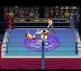 Jikkyō Power Pro Wrestling '96: Max Voltage SNES Knocked backwards