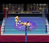 Jikkyou Power Pro Wrestling '96: Max Voltage SNES Dragging you across the ring