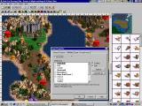 Heroes of Might and Magic III: The Shadow of Death Windows A shot of the map-campaign editor.
