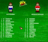 Kevin Keegan's Player Manager SNES The teams to play