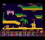 Lemmings 2: The Tribes SNES Get them to the sandcastle
