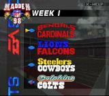 Madden NFL 98 SNES Week 1