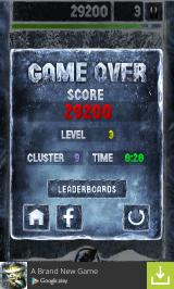 Crystal Ice Android Game over