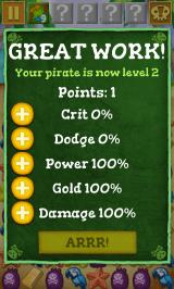 Scurvy Scallywags Android Levelling up