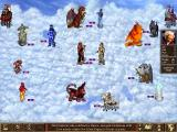 Heroes of Might and Magic III: The Shadow of Death Windows Fireworks in the sky. A screenshot of a battle taking place in the sky tileset. Just one of the new tilesets in the game.