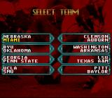 NCAA Football SNES Select team