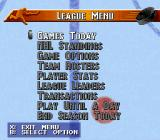 NHL 97 SNES League Menu