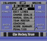 NHL 97 SNES Match Options