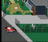 Paperboy 2 SNES Knocked down