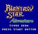 Phantasy Star Adventure Game Gear Title screen