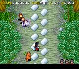 Pocky & Rocky 2 SNES Walking along a path