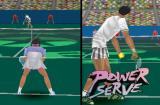 Power Serve 3D Tennis PlayStation Hard court. Diggin' the logo.