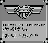 Judge Dredd Game Boy The computer gives you info on you mission