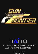 Gun Frontier Arcade Title screen