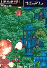 Gun Frontier Arcade Some larger enemies, such as these planes, can have parts individually destroyed
