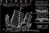 Taipan Apple II Opening Screen