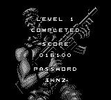 Contra III: The Alien Wars Game Boy Level completed