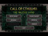 Call of Cthulhu: The Wasted Land Windows title screen