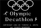 Olympic Decathlon Apple II Splash Screen