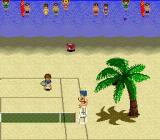 Smash Tennis SNES Crowd watching in the sea