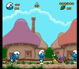 The Smurfs SNES Smurf's ploughing the fields
