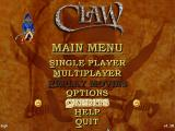 Claw Windows Main menu