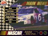 NASCAR Road Racing Windows The main menu