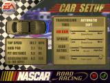 NASCAR Road Racing Windows The car's configuration menu