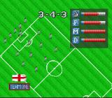 Virtual Soccer SNES Choose a formation