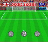 Virtual Soccer SNES Coin toss