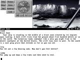 Frederik Pohl's Gateway DOS Exploring a barren, beautifully monochrome planet. You cry and jump. Ahh, emotions...