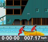 Winter Olympics: Lillehammer '94 SNES Bobsled: Attempting to get a good start