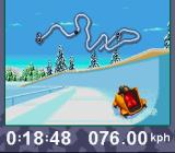Winter Olympics: Lillehammer '94 SNES Bobsled: Taking a corner