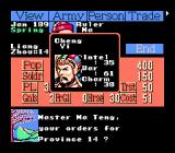 Romance of the Three Kingdoms II NES Chief's statistics