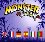 Monster Racer PlayStation Language selection.