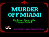Murder off Miami ZX Spectrum Loading Screen
