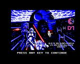 Star Wars: Return of the Jedi BBC Micro Title screen (with no title?).