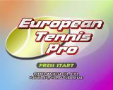 European Tennis Pro PlayStation 2 The game's title screen