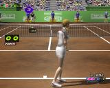 European Tennis Pro PlayStation 2 The player gets to serve first in this match. This is done by holding down CROSS to build up power