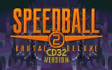 Speedball 2: Brutal Deluxe Amiga CD32 Title screen