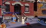 Sam & Max Hit the Road DOS Outside of the office. Anything can happen in the world of Sam and Max - including kittens talking in gruff macho voices