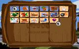 Sam & Max Hit the Road DOS Your inventory, consisting of neatly arranged tiles