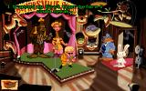 Sam & Max: Hit the Road DOS Listening to a hilariously bad song performed by Conroy Bumpus, an evil country singer!