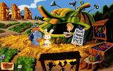 Sam & Max Hit the Road DOS Displaying an active Talk icon in this marvelous world of vegetables