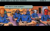 Space Quest V: The Next Mutation DOS Roger is taking an exam! But adventure game heroes always cheat, so relax